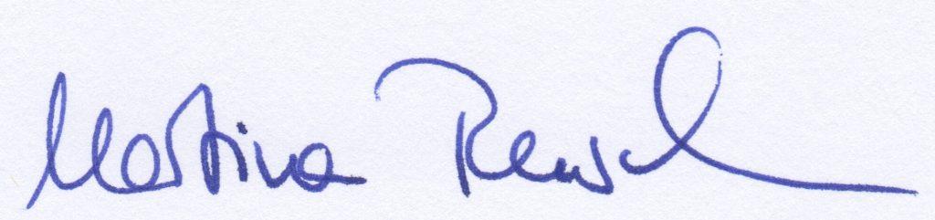 Die Unterschrift von Martina Rusch